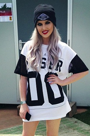 Little Mix's Perrie Edwards at T in the Park (14 July)