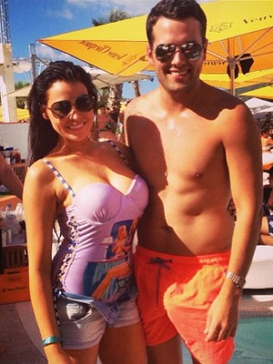 TOWIE's Jessica Wright and Ricky Rayment in Ibiza - 2 August 2013