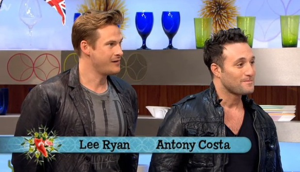 Lee Ryan and Antony Costa on Gino and Mel: Let's Do Lunch - 25 July 2013
