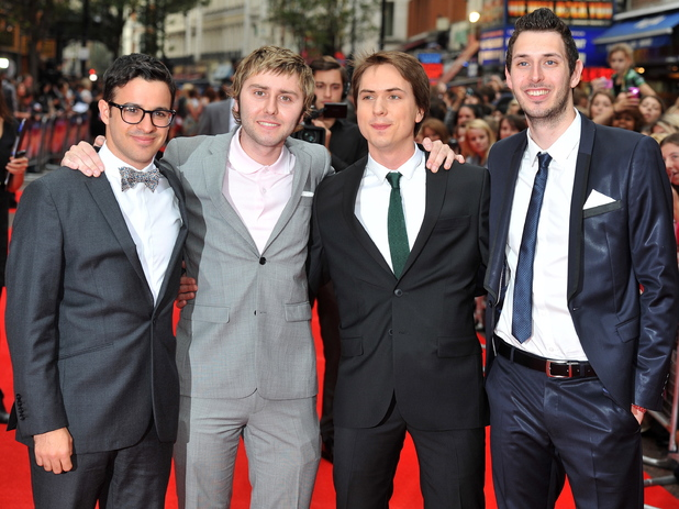 Simon Bird, James Buckley, Blake Harrison, Joe Thomas The Inbetweeners - UK film premiere held at the Vue West End - Arrivals.16 August 2011