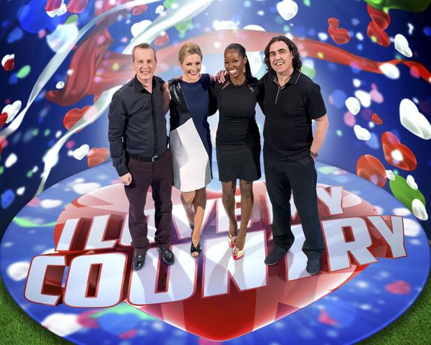 I Love My Country, BBC1, Gabby Logan, Frank Skinner, Jamelia, Micky Flanagan, Sat 3 Aug