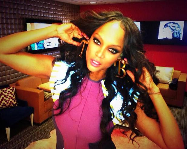 Tyra Banks appears on BET's 106 & Park, kisses rapper Bow Wow - 31 July 2013