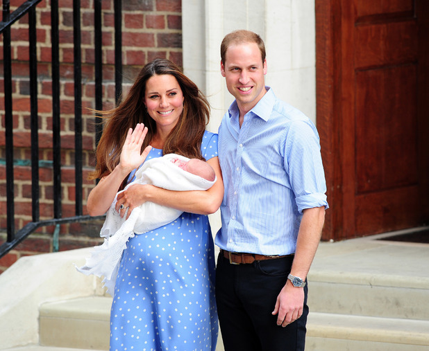 Prince William and Kate Middleton leave St Mary's Hospital in London with Royal baby, Prince George - 23 July 2013