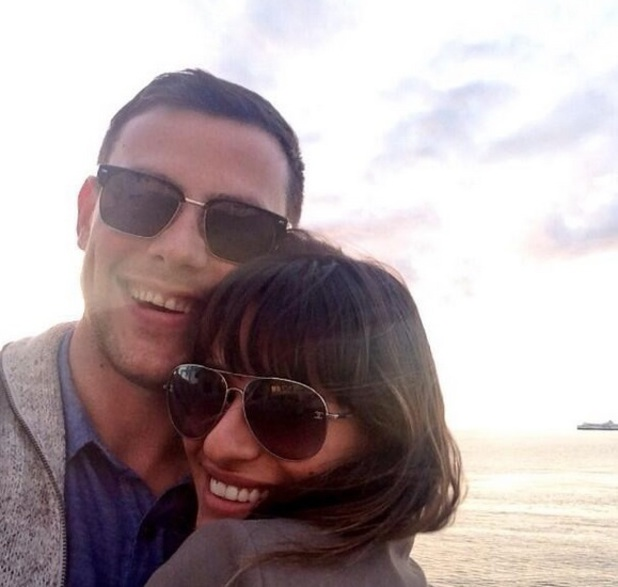 Lea Michele tweets a picture of herself and Cory Monteith, 29 July 2013