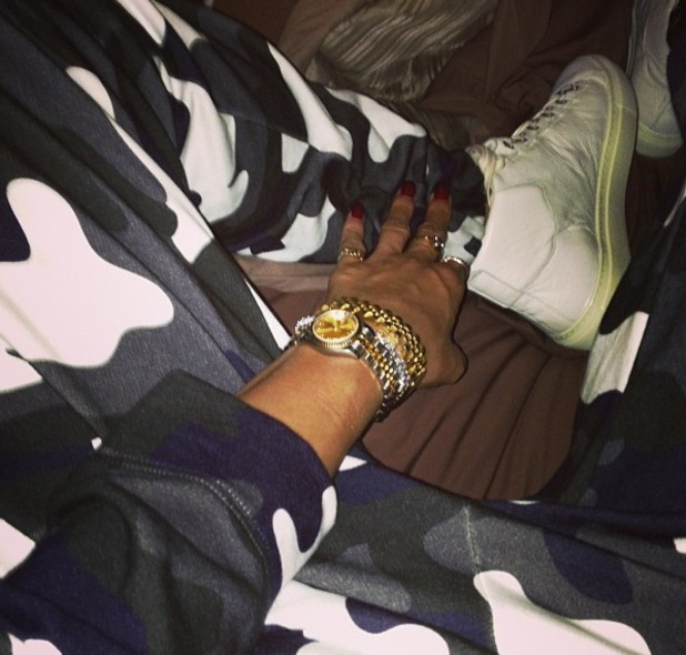 Rihanna posts picture of her dressed in camouflage - 28 July 2013
