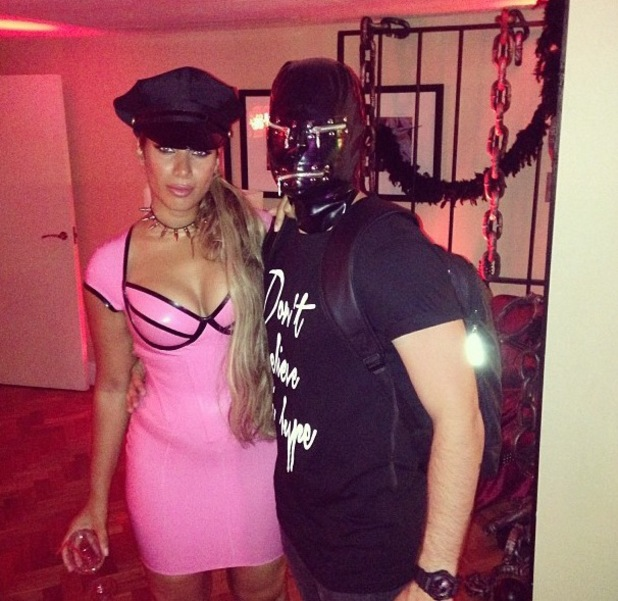 Leona Lewis celebrates friends birthday with x-rated theme party and pVC outfit - 1 August 2013