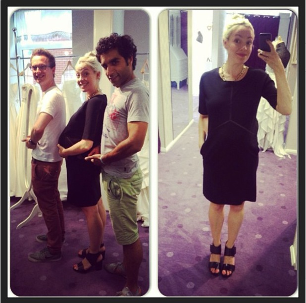 Cherry Healey shows off baby bump in LBD - 30 July 2013