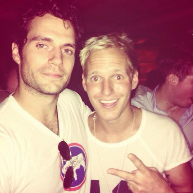 Made In Chelsea's Jamie Laing gets a picture with actor Henry Cavill