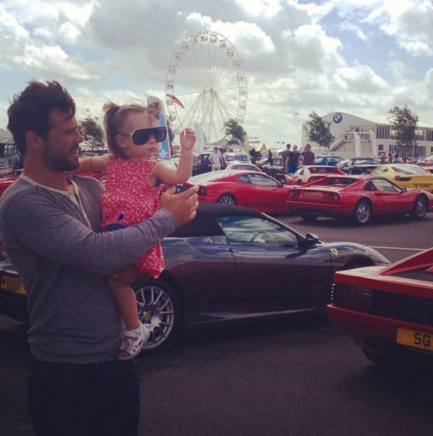 Ben Foden and daughter Aoife Belle - July 2013