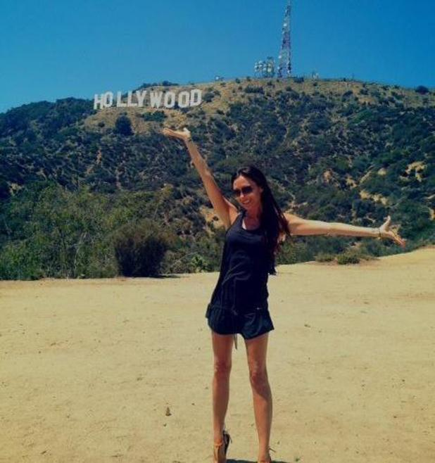 Victoria Beckham goes hiking, visits the Hollywood sign - 29 July 2013