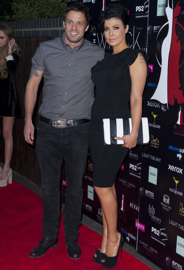 Kym Marsh and Jamie Lomas at Wreck my Dress Experience at Whitecot - 5 February 2013