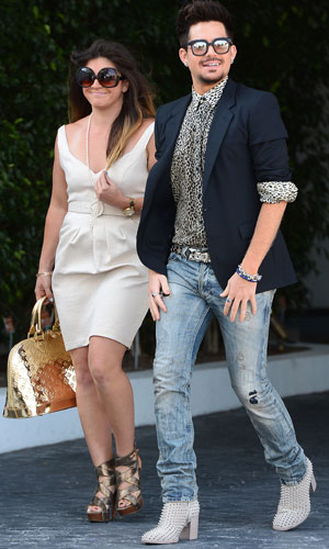 Celebrities arrive at SLS Hotel to attend Fergie's baby shower, 28 July 2013, Adam Lambert