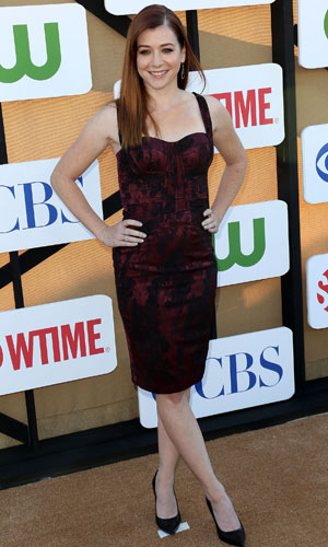 Alyson Hannigan, CW, CBS and Showtime 2013 Summer TCA Party - Arrivals, 29 July 2013