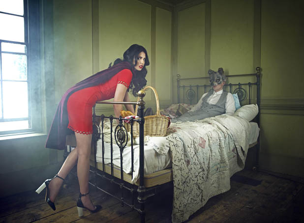 BINTM's Saffron Williams models in the competition as little red riding hood - July 2013