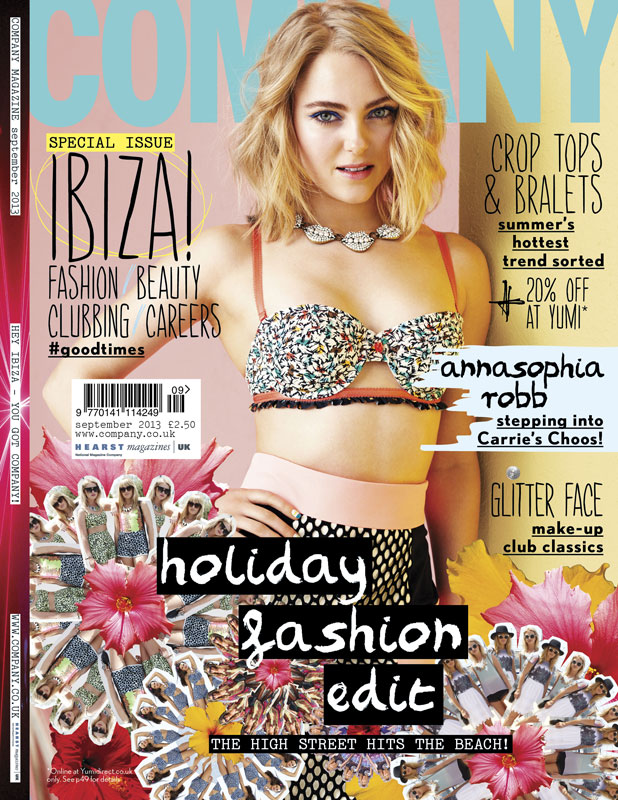 AnnaSophia Robb is the September cover star for Company Magazine