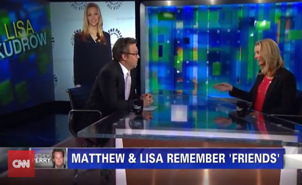 Matthew Perry and Lisa Kudrow on Piers Morgan Live (26 July)