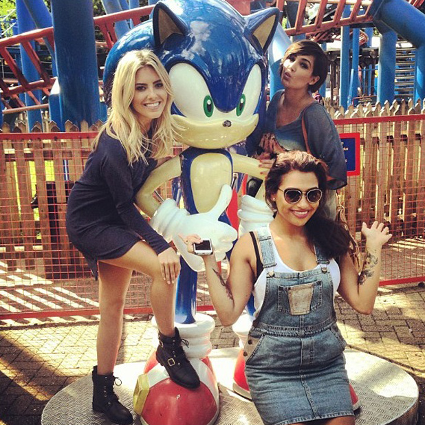 The Saturdays - Mollie King, Frankie Sandford and Vanessa White at Alton Towers