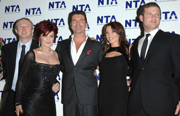 Sharon Osbourne, Louis Walsh, Dermot O'Leary, Dannii Minogue, Simon Cowell National Television Awards held at the Royal Albert Hall - Press Room London, England - 31.10.07