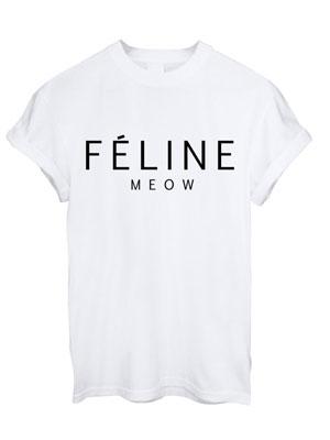 Feline t-shirt, teeisland.co.uk, £10