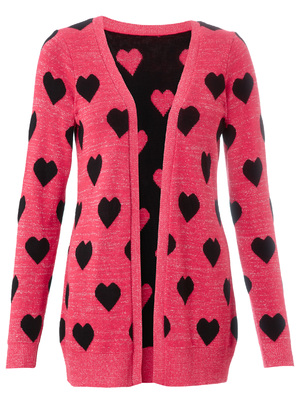 Lipsy heart print cardigan, £38