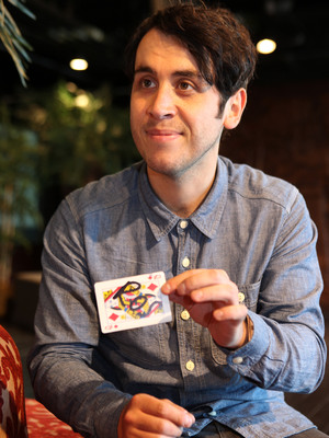 Pete Firman performs a trick with Reveal's Ros SackReveal use only
