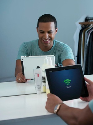 MArvin Humes using Sky Go on his iPad