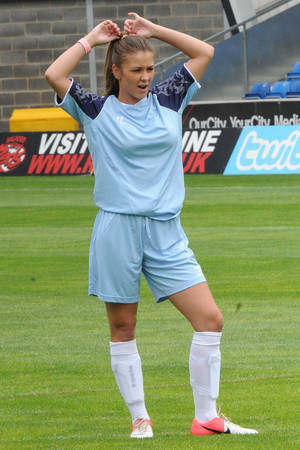 Brooke Vincent - 4.8.2013 - Celebrities take part in the One Goal Foundation Football Charity Match