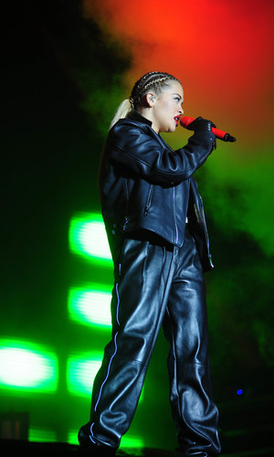 Rita Ora performing on stage at the Lytham Proms Festival - 4.8.2013