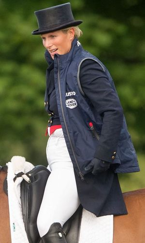 Zara Phillips in The Dressage Guinea Pig Test at Gatcombe Horse Trials, Gatcombe Park, Gloucestershire, Britain - 03 Aug 2013
