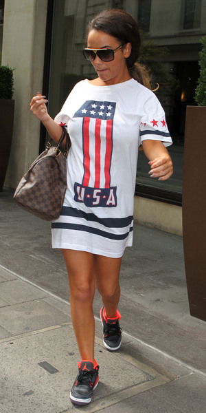 Chelsee Healey out and about in London, Britain - 07 Aug 2013