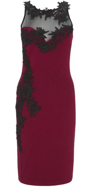 Lipsy red lace dress, £58