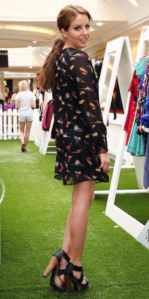 Lydia Bright, Bella Sorella pop-up boutique, Meadowhall, Sheffield, Britain - 07 Aug 2013