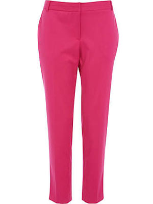 River Island pink trousers, £35