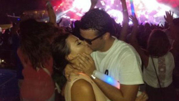 Jessica Wright and Ricky Rayment watching David Guetta in Ibiza, 5 August 2013