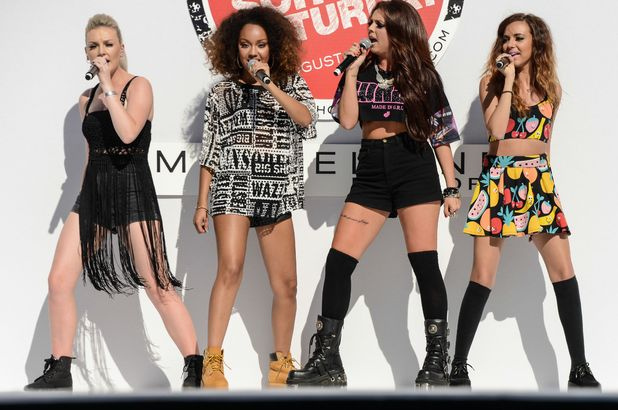 Little Mix perform at the Teen Vogue back to school kickoff event at the Grove, Los Angeles - 09 Aug 2013