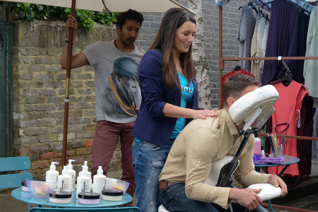 EastEnders, Sadie gives Jack a massage, Thu 8 Aug