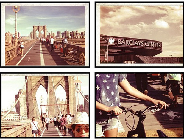 Beyonce cycles across Brooklyn for her last concert