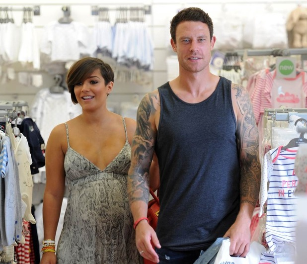 Frankie Sandford and Wayne Bridge shop for baby clothes in Mothercare - 7 August 2013