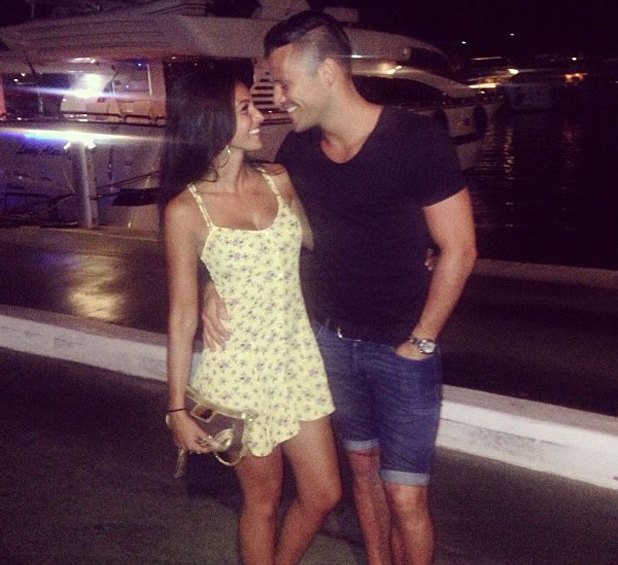 Michelle Keegan and Mark Wright in Magaluf, 4 August 2013