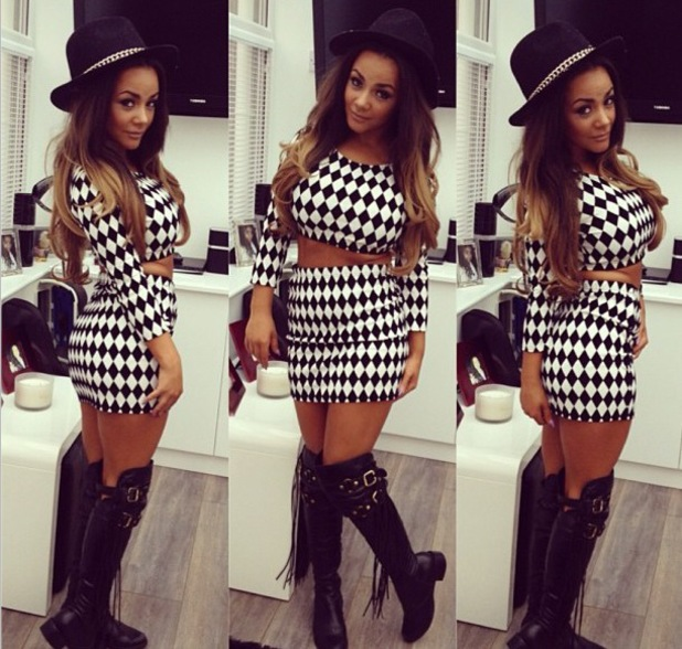 Chelsee Healey heads to London in monochrome two-piece ahead of birthday celebrations - 6 August 2013