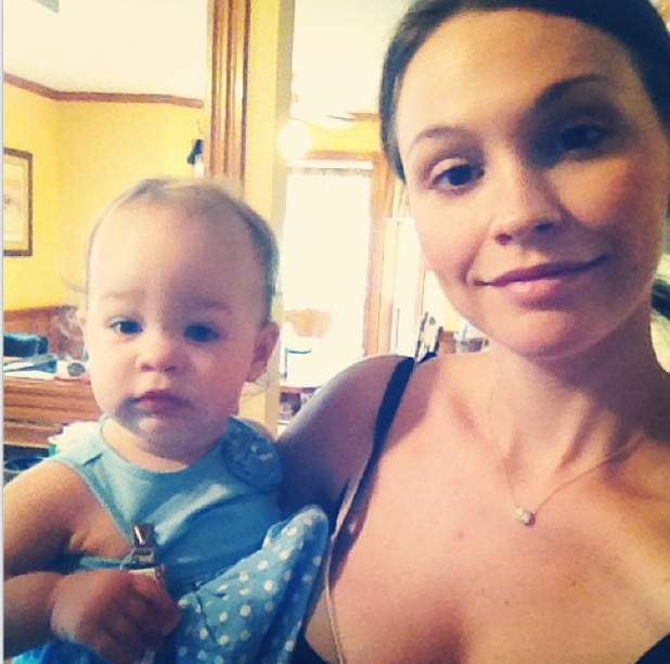 Lisa Stelly and daughter Pearl Osbourne - 5 August 2013