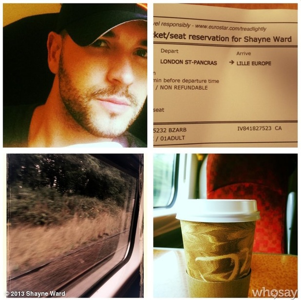 Shayne Ward heads to France to record new material - 7 August 2013