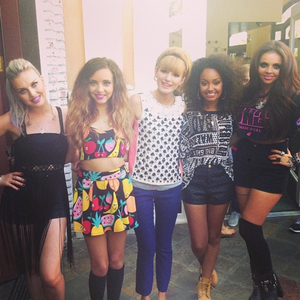 Little Mix meet Bella Thorne at the Teen Vogue back to school kickoff event at the Grove, Los Angeles - 09 Aug 2013