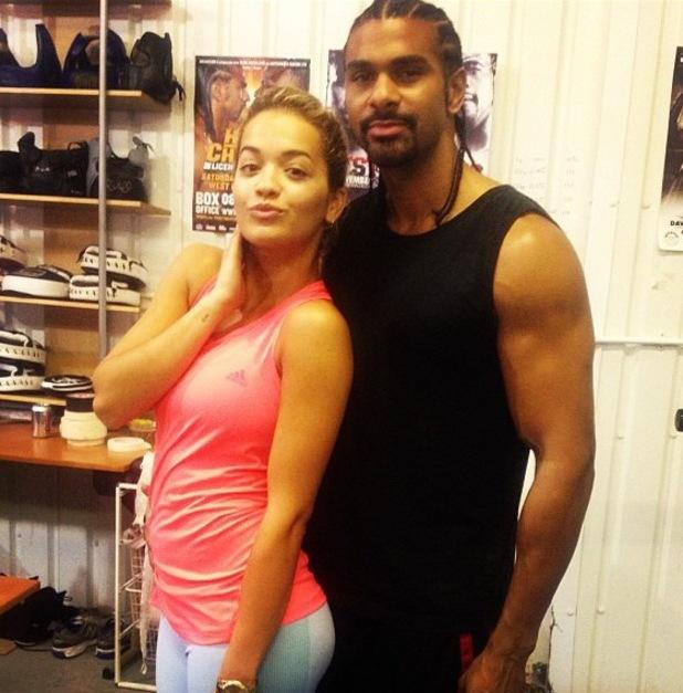 Rita Ora and David Haye in the boxing ring - 8 August 2013