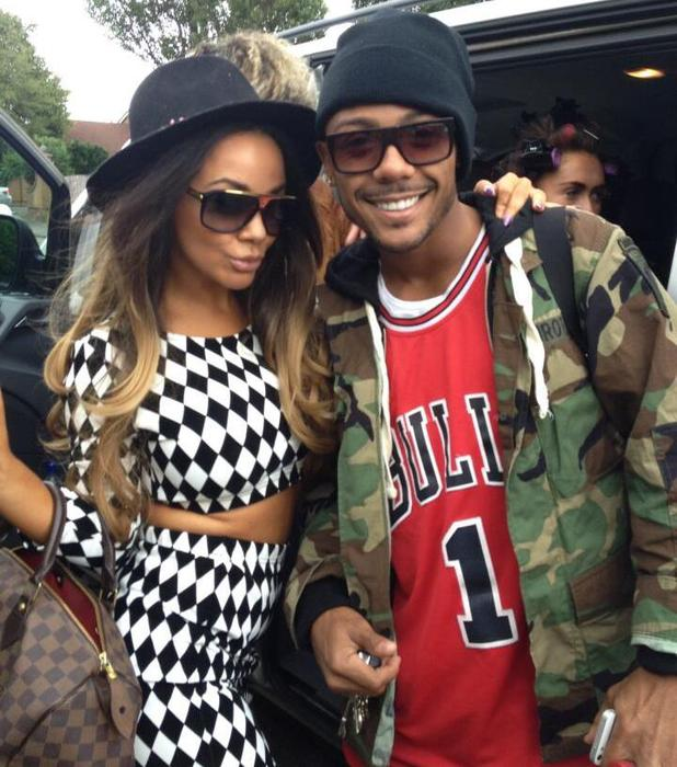 Chelsee Healey is joined by X Factor finalist Marcus Collins on her birthday - 6 August 2013