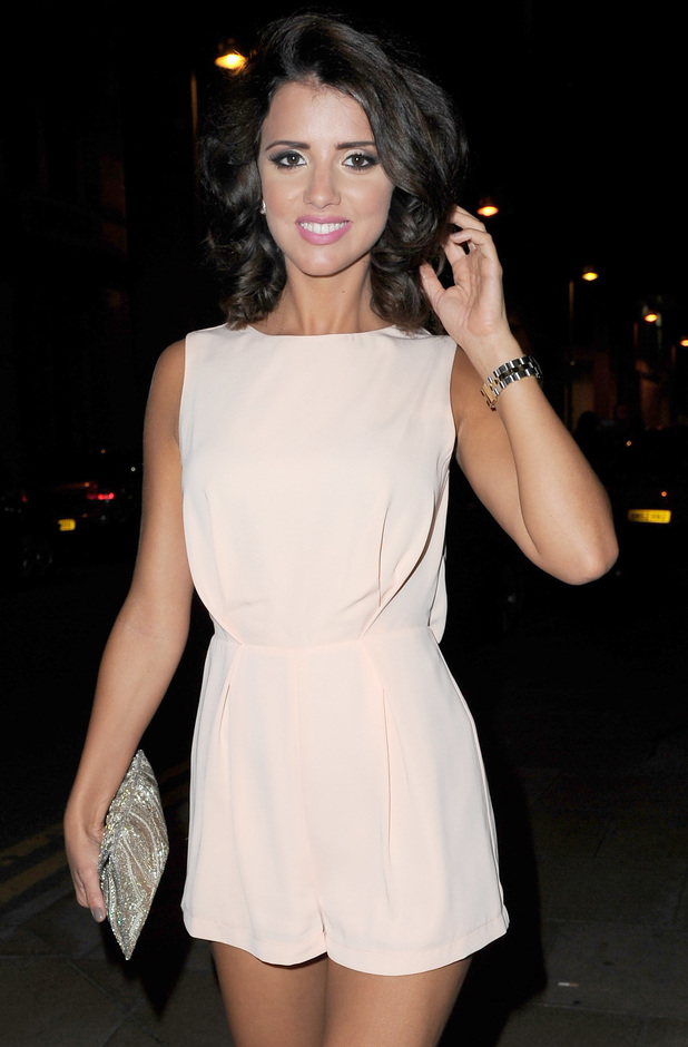 Lucy Mecklenburgh arrives at Rosso Restaurant, Manchester - 10/08/13