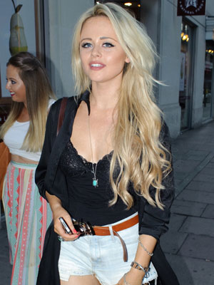 Emily Atack arriving at the Rose club for Jamal Edwards' book launch, 2 August 2013