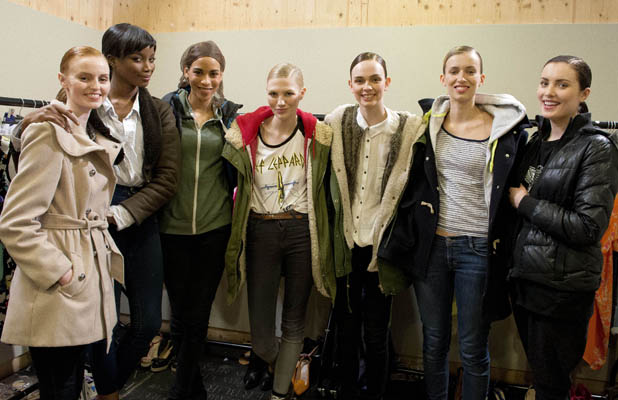 Holly Carpenter and fellow Britain's Next Top Model hopefuls on August 2013 episode