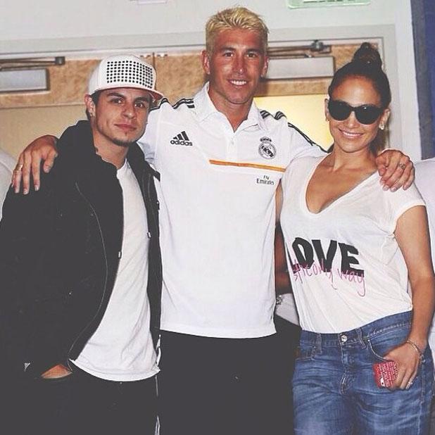 Jennifer Lopez meets Sergio Ramos in LA, August 2013