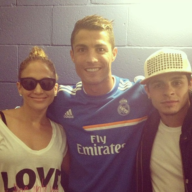Jennifer Lopez meets Cristiano Ronaldo in LA, August 2013